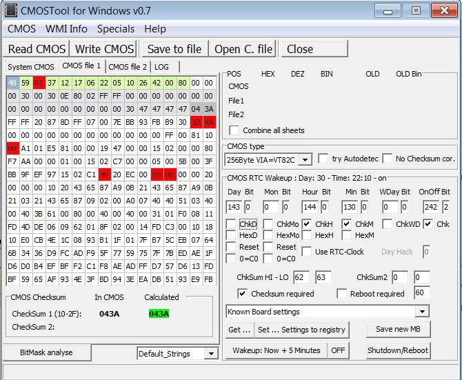 CMOSTool usage